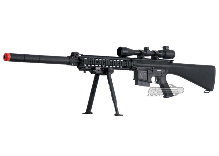 Sr 25 For Sale >> G&G GR25 Sniper Rifle AEG Airsoft Gun ( Black )