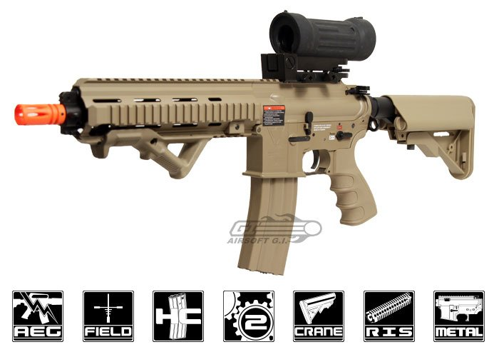 G&G Top Tech Full Metal TR4-18 Light CQB Desert AEG Airsoft Gun by: