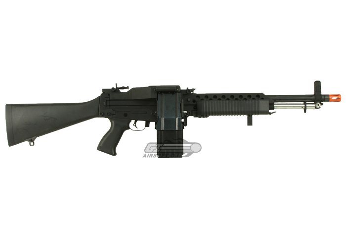 G&P Full Metal US Navy MK23 MG AEG Airsoft LMG