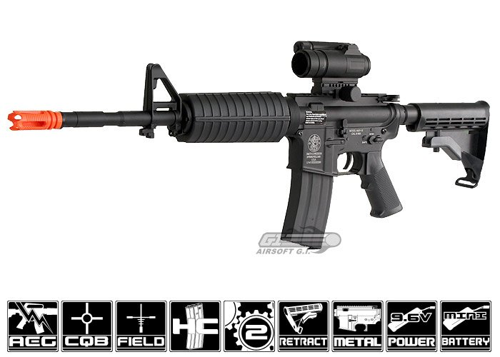 (Discontinued) Smith & Wesson Full Metal M&P 15 by D Boy Airsoft Gun