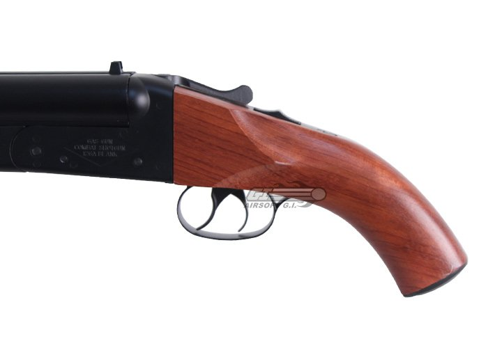 Populaire Double Barrel Gas Shotgun Airsoft Gun ( Wood ) VO69