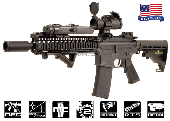 Airsoft GI KWA CQR Blazing Hog AEG Airsoft Rifle