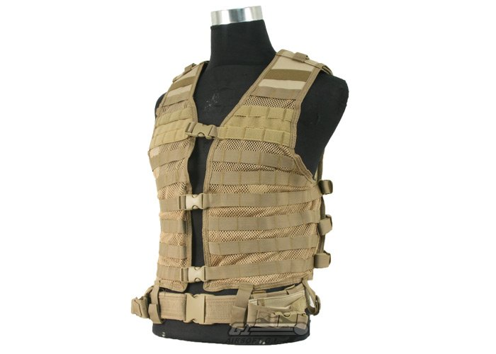 Ncstar Molle Tactical Vest Tan Airsoft Gi Largest