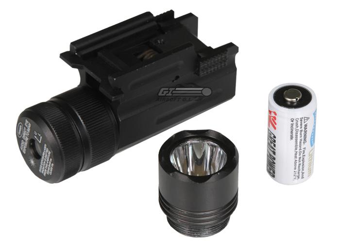 Ncstar 150l Compact Flashlight Green Laser W Qr Weaver
