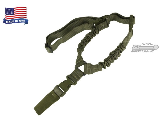 CONDOR COBRA ONE POINT BUNGEE CARRY SLING SHOOTING SUPPORT WEBBING OLIVE DRAB
