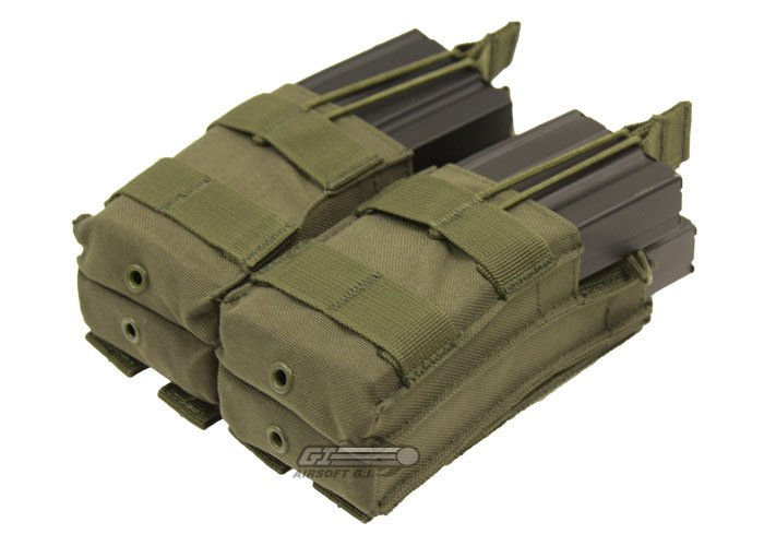 Condor Outdoor Double Stacker Open-Top M4 Magazine Molle Pouch (OD Green)