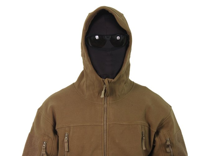 Outdoor Sierra Hooded Micro Fleece Jacket ( Tan / XL )