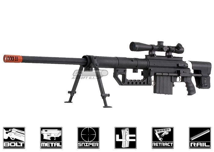 Socom Gear Cheytac M200 Bolt Action Sniper Gas Airsoft Rifle (Black)