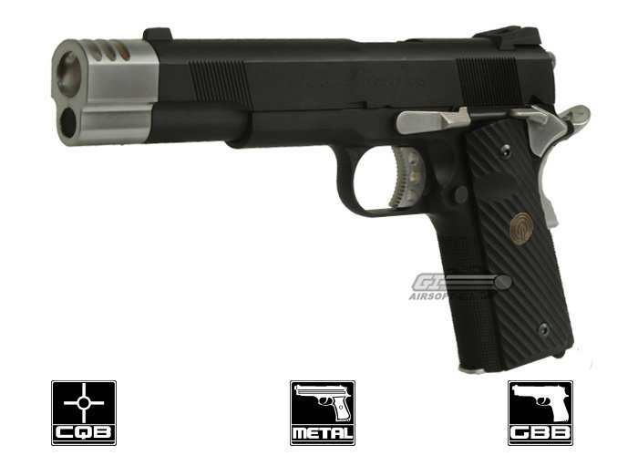 Socom Gear Punisher M1911 GBB Airsoft Pistol Compensator & Case Package  (Black)