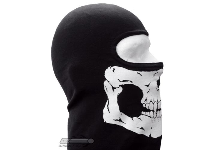 Black Ops Skull Skull Balaclava Black