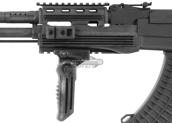 Lancer Tactical LT728U AK47 RIS Tactical AEG Airsoft Rifle w/Folding Stock  (Black)