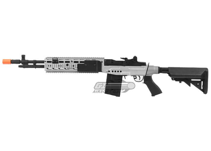 CYMA CM032EBR M14 EBR Sniper Rifle AEG Airsoft Gun ... M14 Ebr Silver