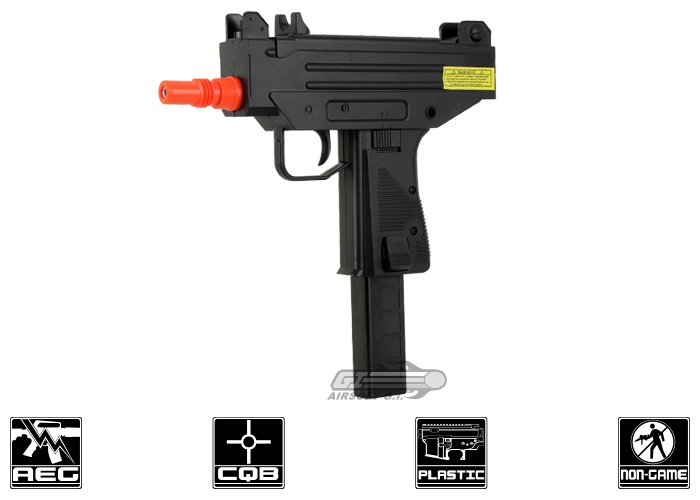 Well D-93 Micro UZI AEP Airsoft SMG (Black)