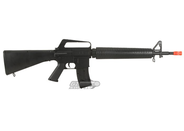 Well M16-A1 Spring Airsoft Gun by: WELL - Airsoft GI - The ... M16 Airsoft