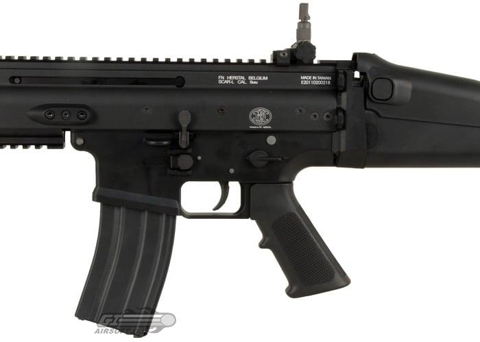 WE Open Bolt FN Herstal SCAR-L MK16 Carbine GBB Airsoft Rifle (Black)