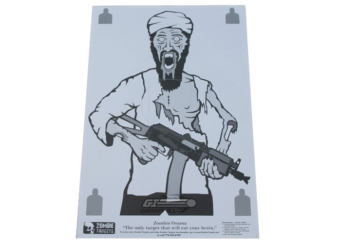 "Zombie Industries Zombie Targets 23x35"" Paper Target - ""Osama"" (Single)"