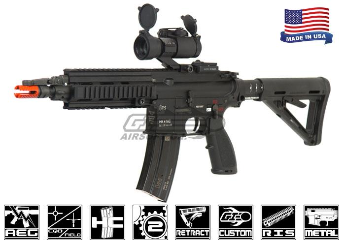 Airsoft GI Custom H&K 416C Extended Short Barrel Airsoft Rifle