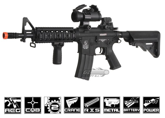 Colt M4 CQB Carbine AEG Airsoft Rifle by CYMA (Black)