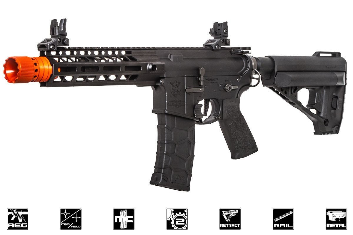 airsoft_vfc_vr16_sabre_cqb_blk_a force avalon vr16 saber m4 cqb m lok aeg airsoft gun by vfc ( black )  at n-0.co