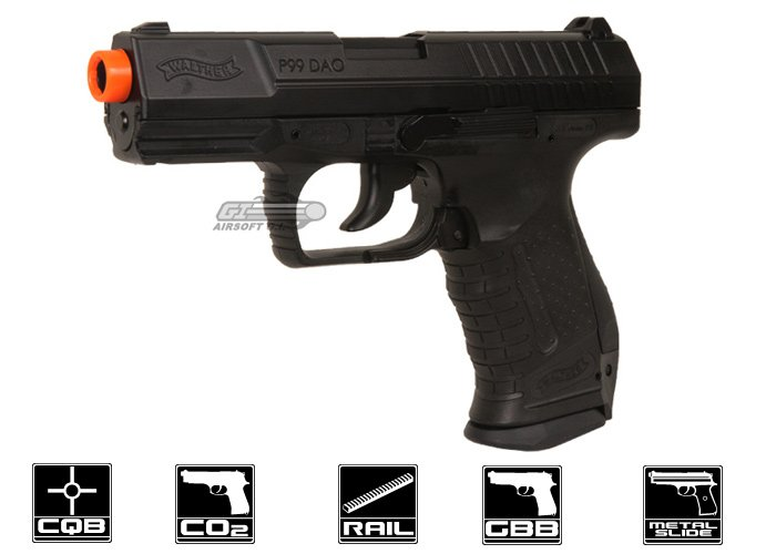 elite force walther p99 dao blowback co2 airsoft pistol black rh airsoftgi com