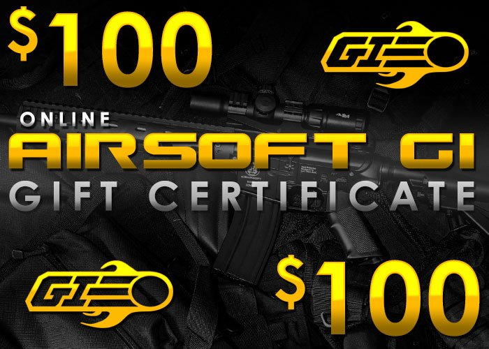 Airsoft GI Gift Certificate $100 (Online Only/E-mail Delivery)