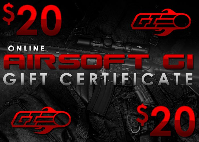 Airsoft GI Gift Certificate $20 (Online Only/E-mail Delivery)