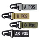 Condor Outdoor AB Negative Blood Type Key Chain (OD Green)