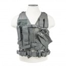 VISM Childrens Tactical Crossdraw Vest (Urban Gray/XS-S)