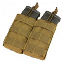Condor Outdoor Double Open-Top M4 Magazine Molle Pouch (Coyote)