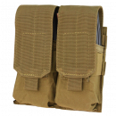 Condor Outdoor Double M4 Magazine Molle Pouch (Coyote)