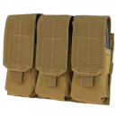 Condor Outdoor Triple M4 Mag Pouch (Coyote Brown)