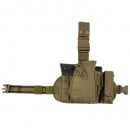 VISM Drop Leg Holster/Mag Pouch MOLLE (Tan)