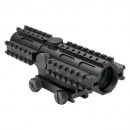 NcSTAR Tri-Rail Series 4X32 Compact Scope/3 Rail Sighting System Mil-Dot (Blue)/Weaver Mount