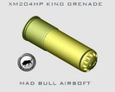 Madbull XM204HP King 204 rd. BB Grenade Shell (Black/Yellow)