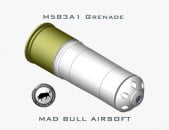 Madbull M583A1 Illumination 96 rd. BB Grenade Shell (Black/Silver)