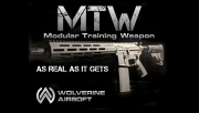 "Wolverine Airsoft MTW Modular Training Weapon SBR 10.3"" M4 M-LOK AEG Airsoft Rifle (Black)"