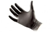 North American Rescue Gloves Black Nitrile Med 50 Pair