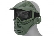 Emerson Industries Full Face Mask w/ Mesh Eye Protection & Visor (OD Green)