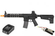 Krytac Trident MK2 CRB Keymod M4 Carbine AEG Airsoft Gun LiPo Battery & Charger Package (Black)