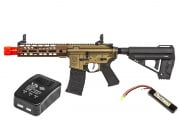Elite Force Avalon VR16 Saber Carbine AEG Airsoft Gun by VFC LiPo Battery & Charger Package (Bronze)