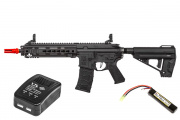 Elite Force Avalon VR16 Calibur CQC Carbine AEG Airsoft Gun by VFC LiPo Battery & Charger Package (Black)