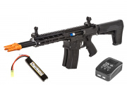 Classic Army DT-4 Double Barrel AR AEG Airsoft Rifle LiPo Battery & Charger Package