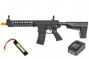 "Classic Army M4 10"" ARS3 Modular Rail Carbine AEG Airsoft Gun w BAS System LiPo Battery & Charger Package (Black)"