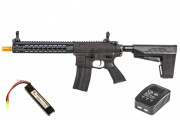 "Classic Army M4 10"" ARSS4-10 Keymod Carbine AEG Airsoft Gun w BAS System LiPo Battery & Charger Package (Black)"