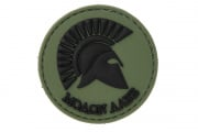 UK Arms Molon Labe PVC Patch (OD)