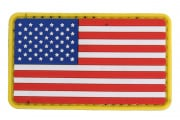 UK Arms US Flag PVC Patch Velcro (Red/White/Blue)
