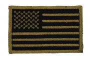 UK Arms US Flag Patch Velcro (Tan)