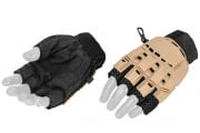 Lancer Tactical Armored Half Finger Gloves (TAN/X-Small)