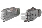 Lancer Tactical Armored Half Finger Gloves (ACU/Small)