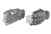 Lancer Tactical Armored Half Finger Gloves (ACU/X-Large)